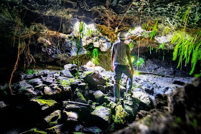 Tunnel de lave puits de lumière